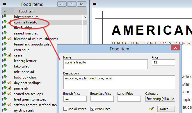 menupro how to make a restaurant menu change your menu design